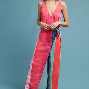 Mara Hoffman Pink Striped Meryl Jumpsuit.